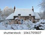 christmas cottage snow
