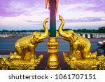 View On Golden Elephant Statue...