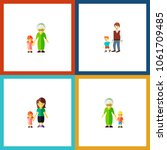 icon flat family set of... | Shutterstock .eps vector #1061709485