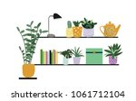 house decor elements. colorful...   Shutterstock .eps vector #1061712104