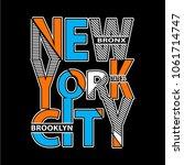 new york typography t shirt... | Shutterstock .eps vector #1061714747