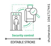 airport security control... | Shutterstock .eps vector #1061717441
