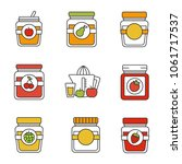 homemade preserves color icons... | Shutterstock .eps vector #1061717537