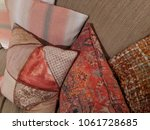 Small photo of Orange scatter cushions