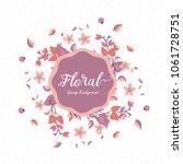 floral spring background | Shutterstock .eps vector #1061728751