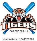 custom ferocious tiger... | Shutterstock .eps vector #1061732081