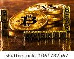 inscription bull bear market... | Shutterstock . vector #1061732567
