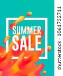 summer sale hot colors lava... | Shutterstock .eps vector #1061732711