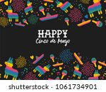 happy cinco de mayo greeting... | Shutterstock .eps vector #1061734901