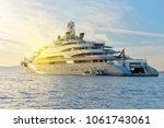 Small photo of Yacht and sun rays. Yachting