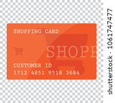 shopping card template on... | Shutterstock .eps vector #1061747477