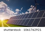 solar and wind power on...   Shutterstock . vector #1061762921