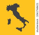 italy black map border on... | Shutterstock .eps vector #1061768621