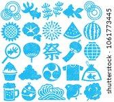 set of japanese summer icons.... | Shutterstock .eps vector #1061773445