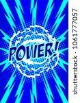 comic art page. power    Shutterstock .eps vector #1061777057