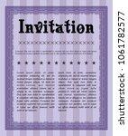 violet invitation. easy to... | Shutterstock .eps vector #1061782577