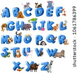 a to z aphabet letter...   Shutterstock .eps vector #1061786399