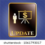 gold badge with business... | Shutterstock .eps vector #1061793017