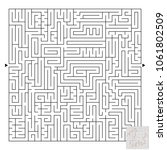 a large square labyrinth. find... | Shutterstock .eps vector #1061802509