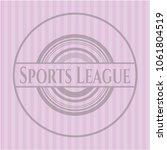 sports league pink... | Shutterstock .eps vector #1061804519