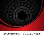 abstract dark gray circle... | Shutterstock .eps vector #1061807465