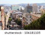 San Francisco street view - stock photo