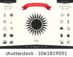 sun icon symbol | Shutterstock .eps vector #1061819051