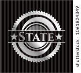 state silver emblem | Shutterstock .eps vector #1061824349