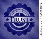 trust with jean texture | Shutterstock .eps vector #1061824355