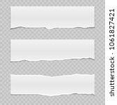 realistic vector torn paper... | Shutterstock .eps vector #1061827421