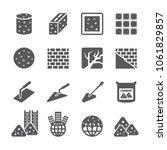 concrete cement icon set | Shutterstock .eps vector #1061829857