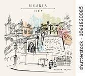 bikaner  rajasthan  india....   Shutterstock .eps vector #1061830085