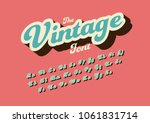 vector of stylized vintage font ... | Shutterstock .eps vector #1061831714