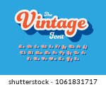 vector of stylized vintage font ... | Shutterstock .eps vector #1061831717