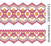 ethnic seamless border. hand... | Shutterstock .eps vector #1061832011