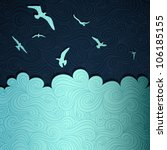 summer sea banner made of fancy ... | Shutterstock .eps vector #106185155