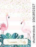 summer party event poster card... | Shutterstock .eps vector #1061852327