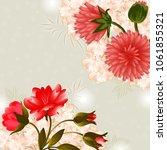 wedding card or invitation... | Shutterstock .eps vector #1061855321