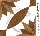 Floor Wood Tile  Vintage...