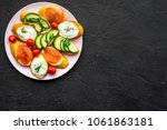 healthy lunch with mini... | Shutterstock . vector #1061863181