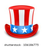 Usa Top Hat For Independence...