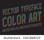 color art vector typeface.... | Shutterstock .eps vector #1061868224