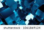 3d render technology background....   Shutterstock . vector #1061869124