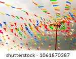 the multicolored flag is tied... | Shutterstock . vector #1061870387