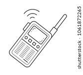 portable radio set vector line...   Shutterstock .eps vector #1061872265