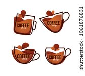 coffee shop logo. vector... | Shutterstock .eps vector #1061876831