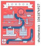 stylish vector map of london ...   Shutterstock .eps vector #1061876927
