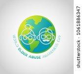 world elder abuse awareness day ... | Shutterstock .eps vector #1061886347