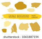 set of colorful ink vector... | Shutterstock .eps vector #1061887154