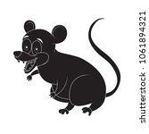 cartoon opossum rodent... | Shutterstock .eps vector #1061894321